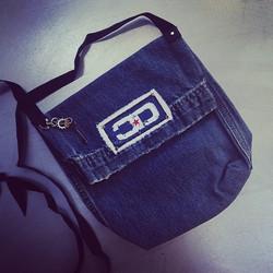 Upcycled Denim Logo Bag