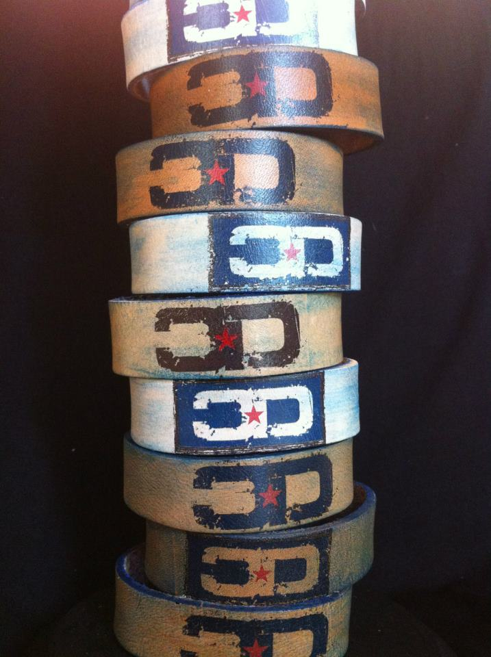 Logo Leather Cuffs