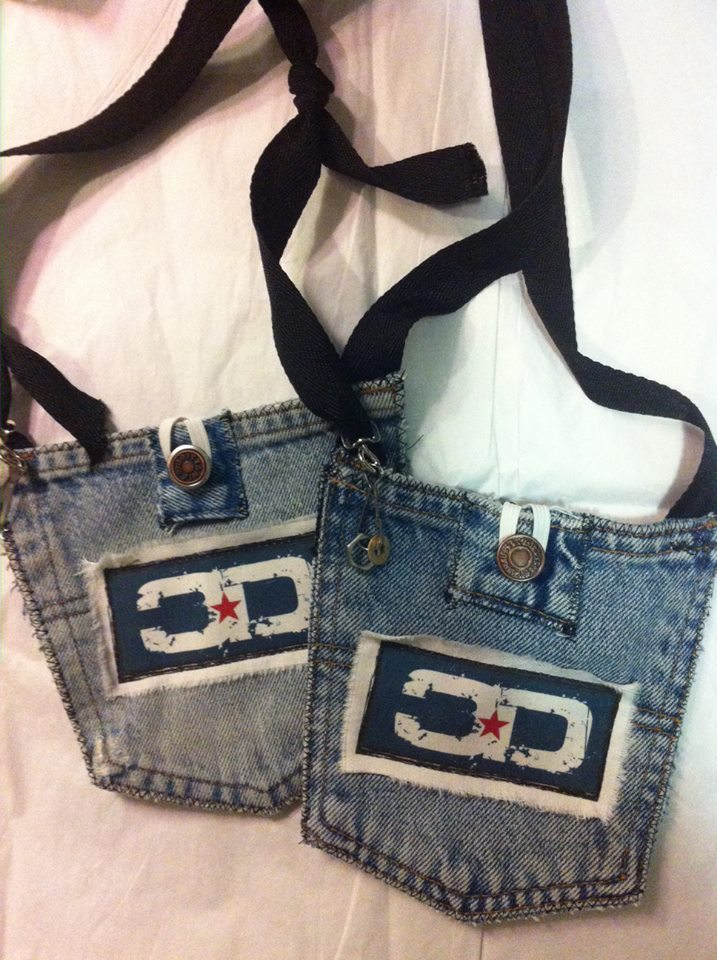 Upcycled Denim Logo Bag