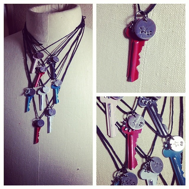 Distressed Key Necklaces