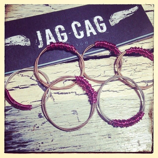 Upcycled Guitar String Rings