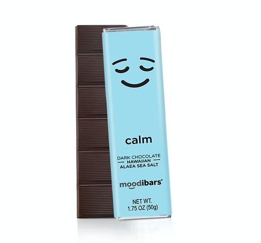 "Moodi Bar: Dark Chocolate Hawaiian Sea Salt ""Calm"""