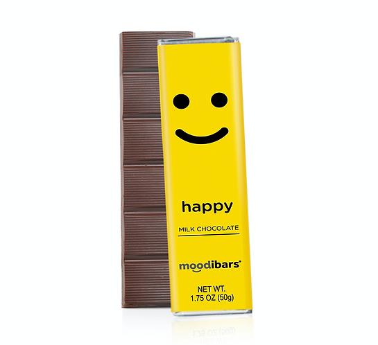 """Moodi Bar: Milk Chocolate """"Happy"""""""