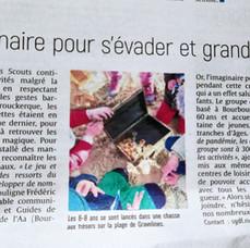 Article dans le Journal des Flandres