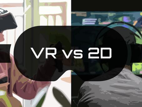 VR vs 2D Games