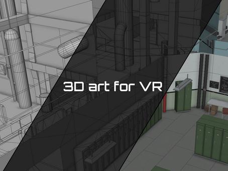 3D art for VR