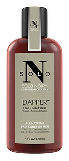 "Solo Noir ""DAPPER"" All Natural Face + Beard Wash {Absolutely Unique}"