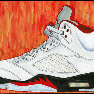 Fire Red 5s (2020)