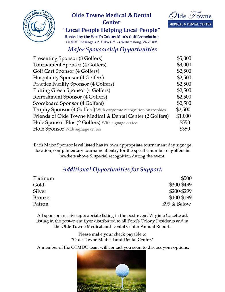 OTMDC 2019 Major Sponsorship Opportuniti