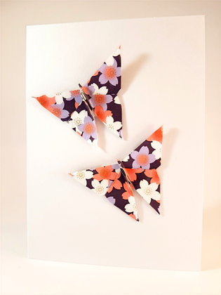 Two floral butterflies - purple