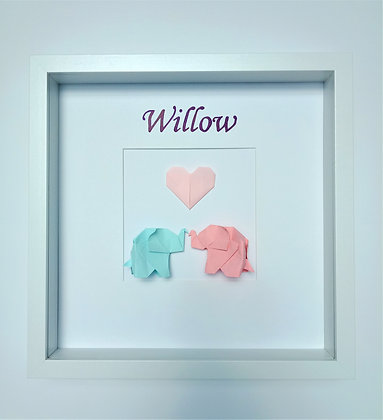 Elephants with Heart - Personalised Name Art
