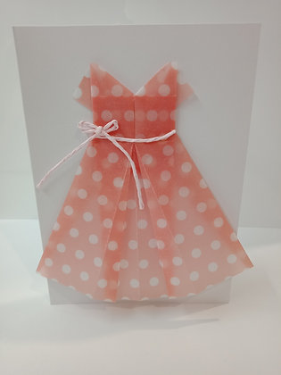 Polka dot peach dress