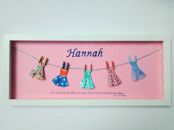 Little Dresses Name Frame - Premium (with Wonder woman)