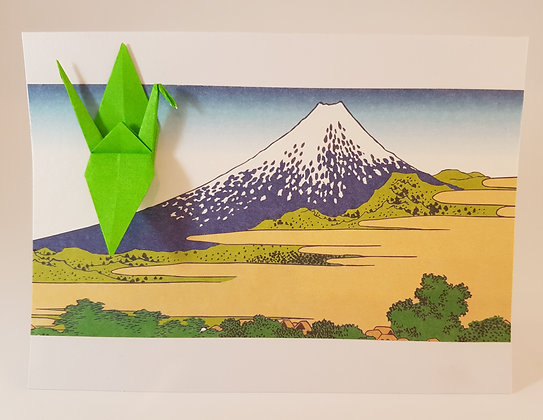 Green Crane and Fuji