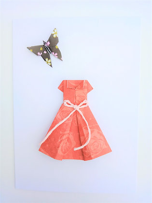 Little red dress with little black butterfly