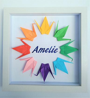 Rainbow Crane Name Frame