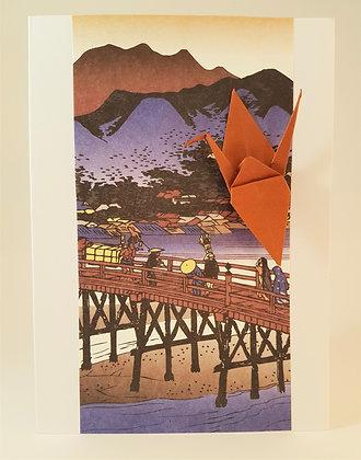 Crane Over a Bridge