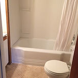 Spacious Main Cottage, main level 4 piece bathroom, just like your bathrooms at home