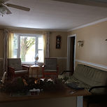 Spacious  Main Cottage, large living room, great view and light from windows, cozy and comfortable
