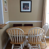 Spacious main Cottage, dining table, seating for 5, excellent light from windows