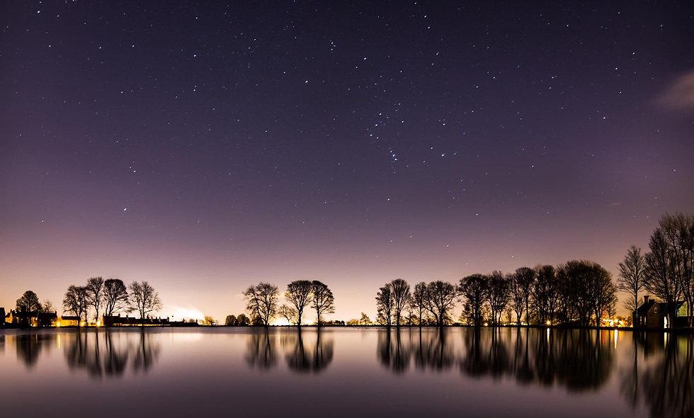 Bradford under starlit sky