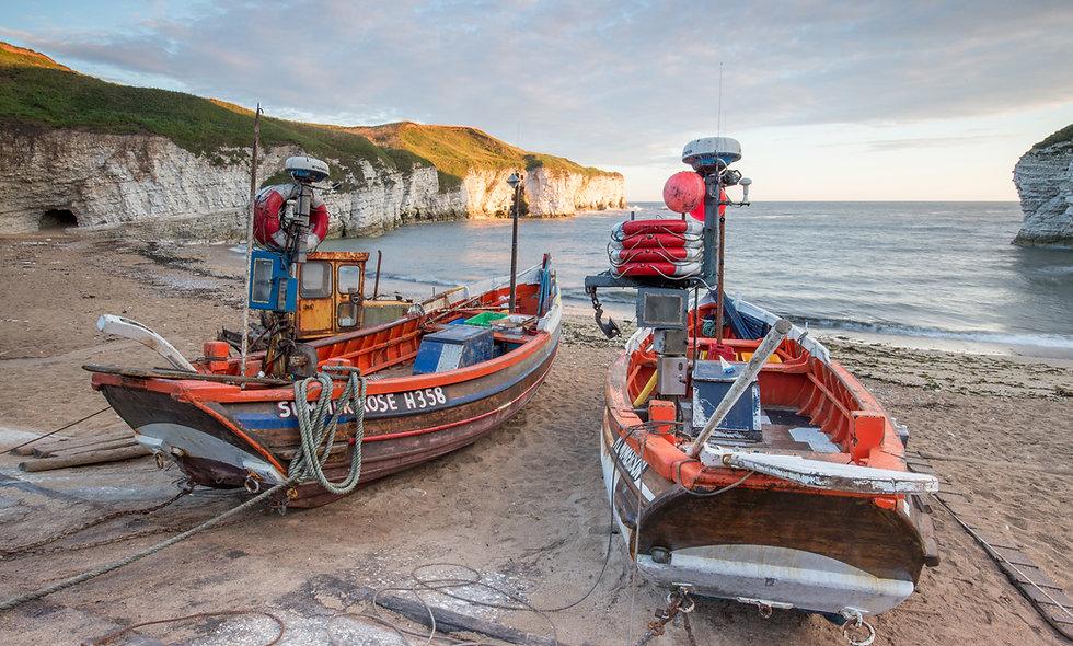 Flamborough North Landing Boats
