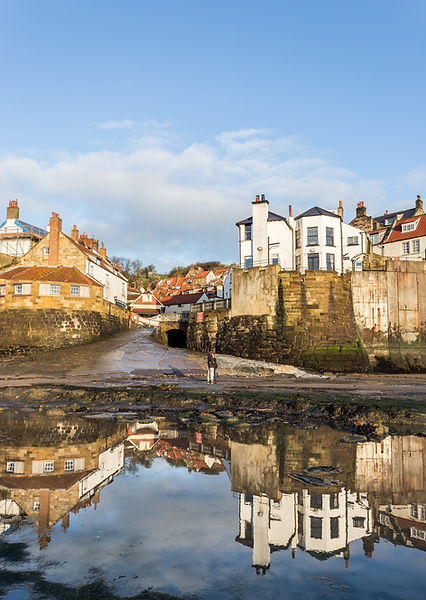Robin Hoods Bay Reflection.JPG