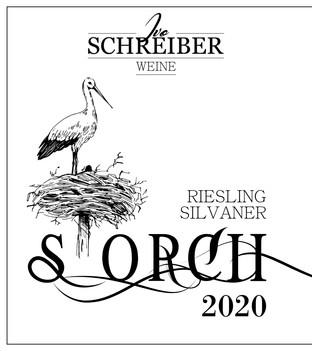 Weinetikette Riesling Silvaner «Storch» 2021