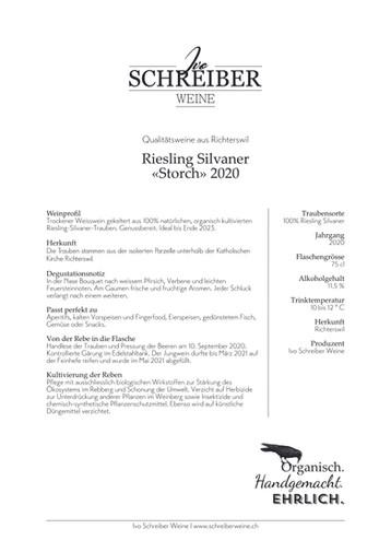 Weinbeschrieb Riesling Silvaner «Storch» 2021