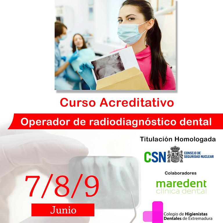 Curso acreditativo homologado Operador de radiodiagnóstico dental