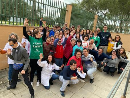 Charla de nuestros alumnos sobre Higiene Bucodental en el centro Aspainca junto al Cáceres Basket