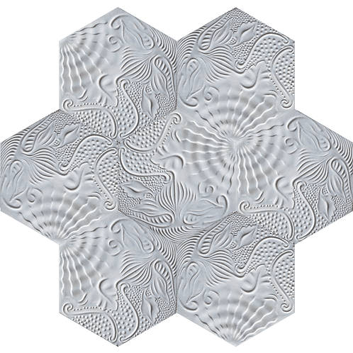 Hexagon Gaudi Cement Tile
