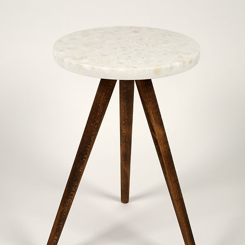 Rounded Terrazzo Coffee Table