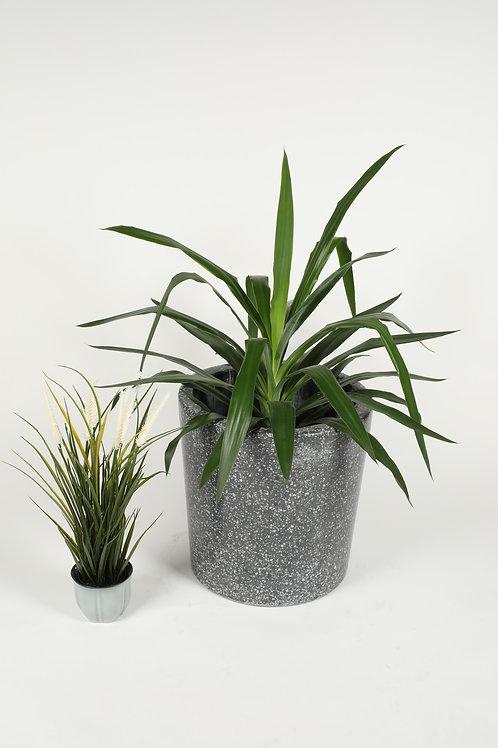 Gray Terrazzo Flower Pot