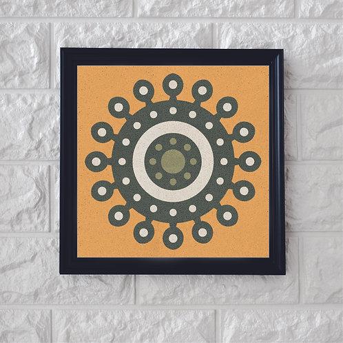 Yellow Symbol Cement Tile