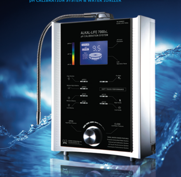 The Alkal-life 7000sL is the world's most advanced technology in water ionization & purification. Now with the most advanced calibration system ever offered, this system assures you that the pH level you select is precise and completely accurate.This is the only calibration system that filters all types of water to guarantee you are getting the best water quality available.