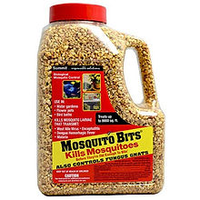 Link to mosquito bits product which is available to add to standing water sources.