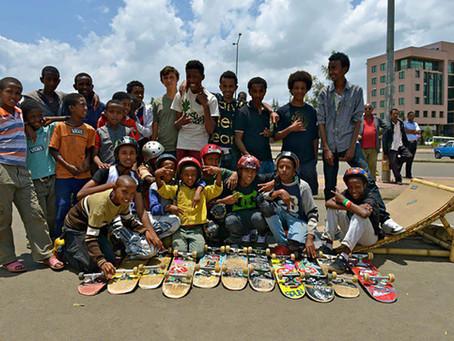 Lewam nous présente le collectif « Ethiopia skate », une initiative de jeunes Éthiopiens.