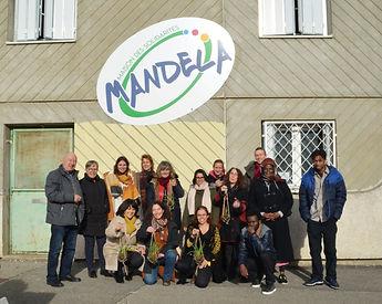 Membres du CA et les salariés Maison des solidarités Nelson Mandela