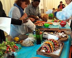 AG buffet  Maison des solidarités Mandela
