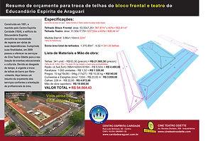 Projeto troca de telhas 2018 Cine Odette