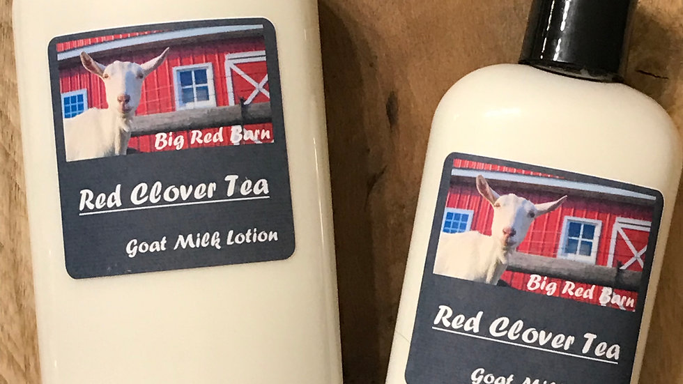 Red Clover Tea Goat Milk Lotion - Big Red Barn Goat Milk Lotion