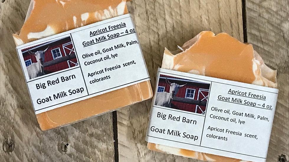 Apricot Freesia Goat Milk Soap - Big Red Barn Goat Milk Soap
