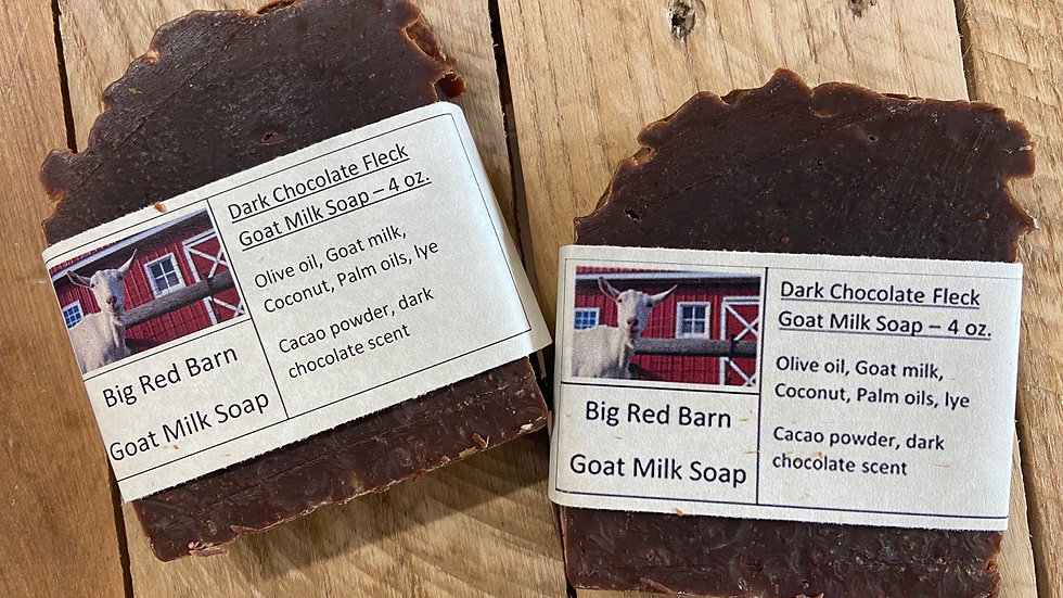 Dark Chocolate soap, goat milk