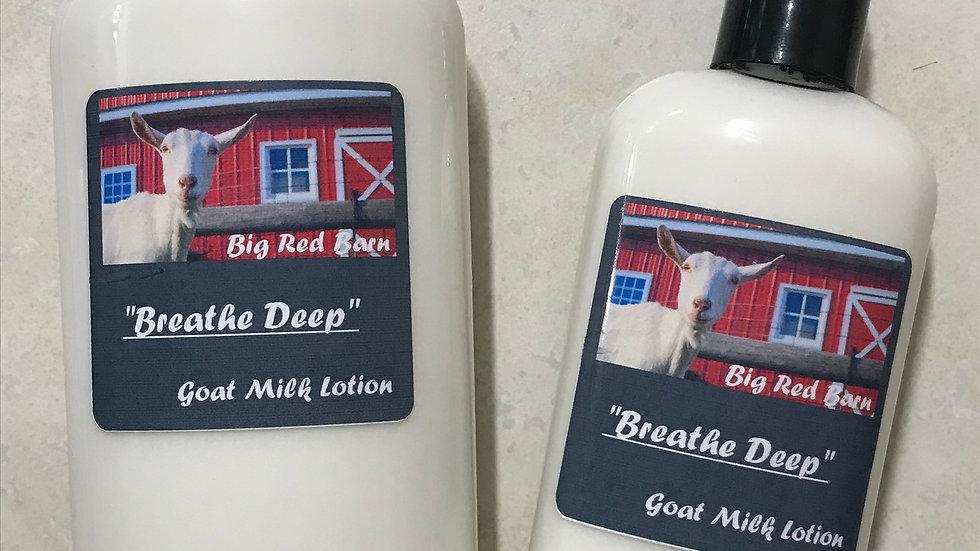"""Breathe Deep"" Goat Milk Lotion"
