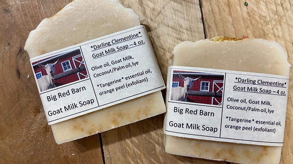 Darling Clementine Soap, goat milk