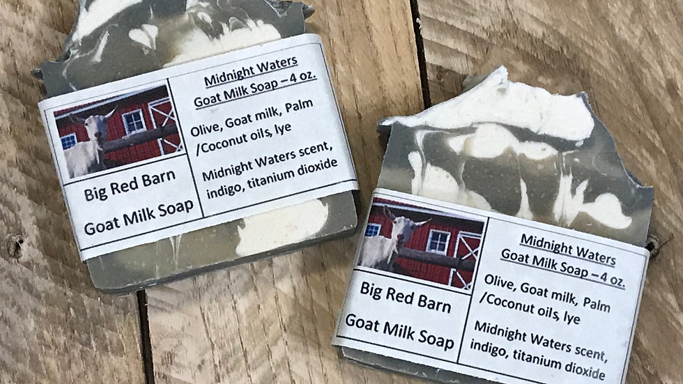 Midnight Waters Goat Milk Soap - Big Red Barn Goat Milk Soap