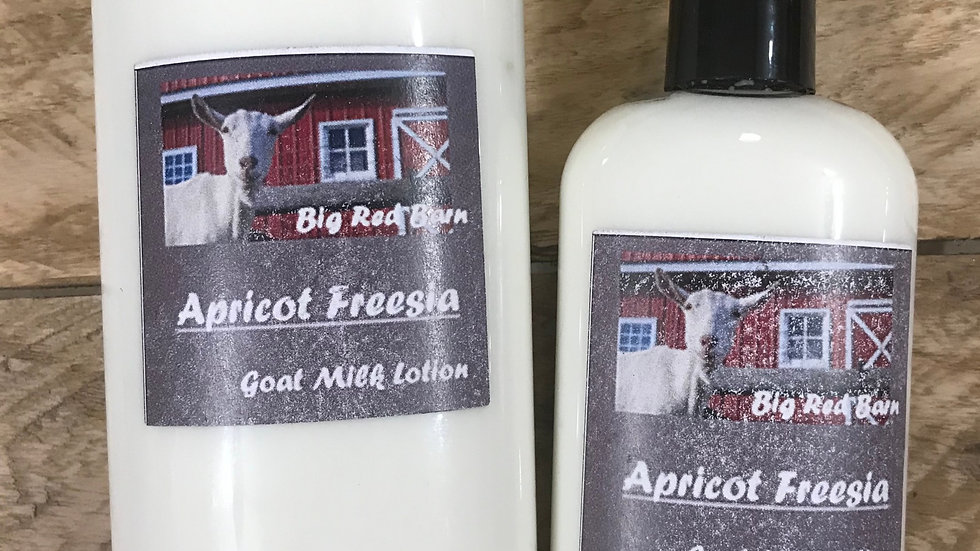 Apricot Freesia Goat Milk Lotion - Big Red Barn Goat Milk Lotion