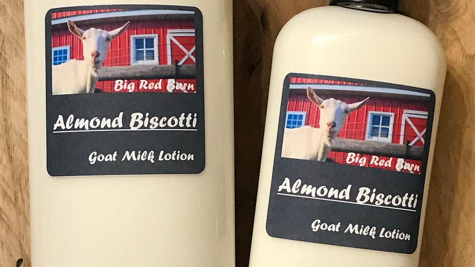 Almond Biscotti Goat Milk Lotion - Big Red Barn Goat Milk Lotion