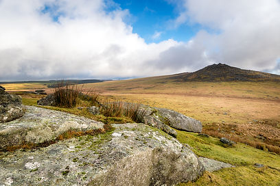 Looking out towards Rough Tor also known
